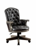 Yelena Gray/Black Leatherette/Wood Arm Chair by Furniture of America