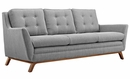 Beguile 2-Pc Expectation Gray Fabric Sofa Set by Modway