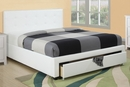 Carla 5-Pc White Faux Leather/Wood Full Storage Bed Set by Poundex