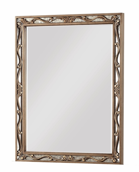 Orianne Antique Gold Wood Frame/Glass Mirror by Acme