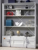 Cargo White Metal Bookcase with Ladder by Acme
