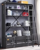 Cargo Gunmetal Finish Metal Bookcase with Ladder by Acme
