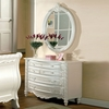 Alexandra Mirror with Pearl White Frame by Furniture of America