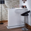 Kite White High Gloss Wood Bar Table with Open Storage by Acme