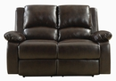 Boston 3-Pc Brown Leatherette Manual Recliner Sofa Set by Coaster