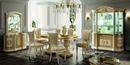 Aida 2 Ivory & Gold Wood Side Chairs by ESF