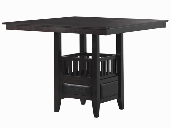 Jaden Espresso Wood Square Counter Height Table by Coaster