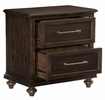 Cardano Driftwood Charcoal Wood 2-Drawer Nightstand by Homelegance