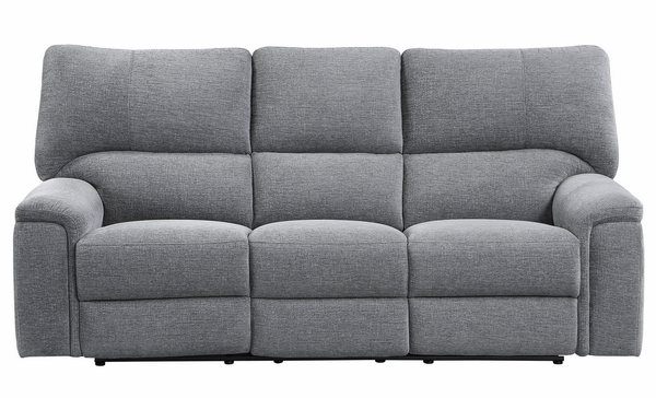 Dickinson 2-Pc Charcoal Fabric Power Recliner Sofa Set by Homelegance