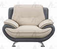 Caryl 2-Tone Bonded Leather Chair by American Eagle Furniture