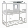 Belton White Metal Twin/Twin House-Themed Bunk Bed by Coaster