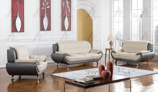 Caryl 2-Tone Bonded Leather Loveseat by American Eagle Furniture