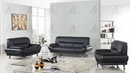 Arcadia Black Genuine Leather Chair by American Eagle Furniture