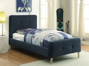 Barney Navy Flannelette Twin Bed by Furniture of America