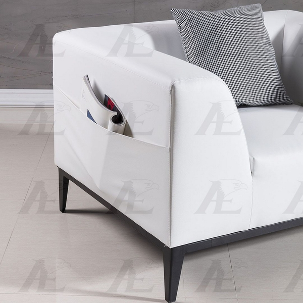 Alba White Bonded Leather Chair by American Eagle Furniture