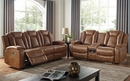 Alexia Brown Leatherette Power Recliner by Furniture of America