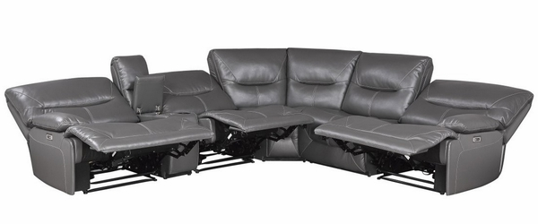 Dyersburg 6-Pc Gray Power Recliner Sectional Sofa by Homelegance