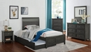 Brogan Gray Wood Twin Bed with Trundle by Furniture of America