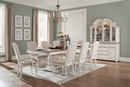 Willowick 2-Tone Wood Buffet & Hutch with Lighting by Homelegance