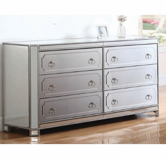 tracee silver mirrored dresser by best master furniture