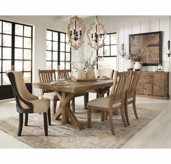 Signature Design Grindleburg Light Brown Wood Dining Table By Ashley