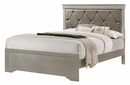 Amalia Silver Faux Leather/Wood Full Panel Bed by Crown Mark