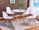 Gwenyth White Wood Side Chair by Best Master Furniture