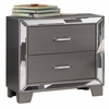 Beronica Sedona Silver Wood Nightstand by Best Master Furniture