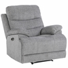 Sherbrook Gray Chenille Fabric Power Recliner by Homelegance