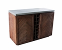 Modrest Amos Gray/Brown Concrete/Wood Wine Cabinet by VIG Furniture