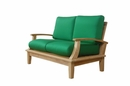 Brianna Natural Deep Seating Loveseat w/Cushions by Anderson Teak