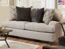 Cantia Two-Tone Gray Fabric Loveseat by Acme