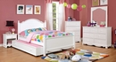Dani White Solid Wood Twin Bed by Furniture of America
