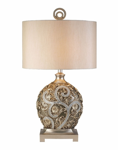 Estelle Vining Cracked Glass Design Table Lamp by Furniture of America