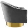 Buoyant Gray Velvet Fabric Swivel Accent Chair by Modway