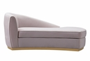 Adele Contemporary Blush Velvet Chaise by TOV Furniture