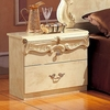 Barocco Ivory Wood Nightstand by ESF