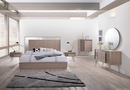 Brazil Taupe Bronze Wood Queen Bed by Best Master Furniture