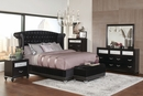 Barzini Black Wood 7-Drawer Dresser with Mirror by Coaster