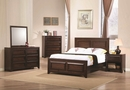 Greenough Maple Oak Wood 6-Drawer Dresser with Mirror by Coaster