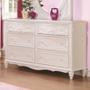 Caroline White Wood Dresser with 6 Drawers by Coaster