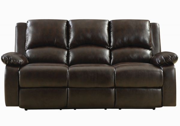 Boston 2-Pc Brown Leatherette Manual Recliner Sofa Set by Coaster