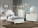 Dominique White Wood 7-Drawer Dresser with Mirror by Coaster