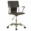 Lunete Black Leatherette Upholstered Office Chair by Coaster