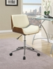 Abilene Ecru Leatherette Upholstered Office Chair by Coaster