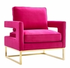 Avery Pink Velvet Accent Chair by TOV Furniture