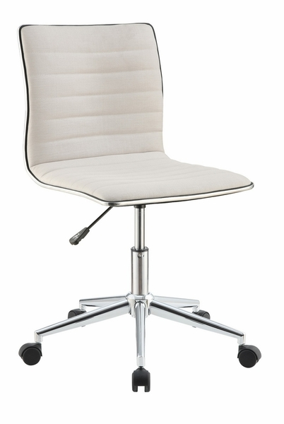 Glynis Cream Fabric Upholstered Office Chair by Coaster