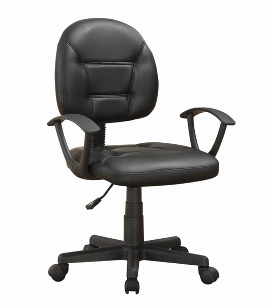 Haizea Black Leatherette Office Chair by Coaster