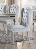Ariana 2 Beige Fabric Side Chairs by Best Master Furniture