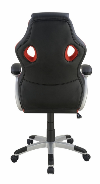 Nidia Black & Red Leatherette Office Chair by Coaster